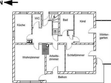 Sonnige, ruhige vier Zimmer Wohnung in Breisgau-Hochschwarzwald (Kreis), Friedenweiler