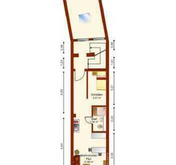 Schöne 1-Raum-Wohnung mit EBK und Balkon in Mannheim