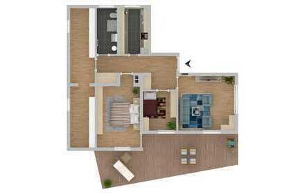 Modernisierte 3-Zimmer-Terrassenwohnung in Stuttgart-Kaltental