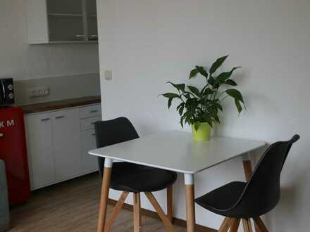 hübsch möbliert und komplett ausgestatte 2-Zimmer-Wohnung mit Süd-Balkon, Ingolstadt