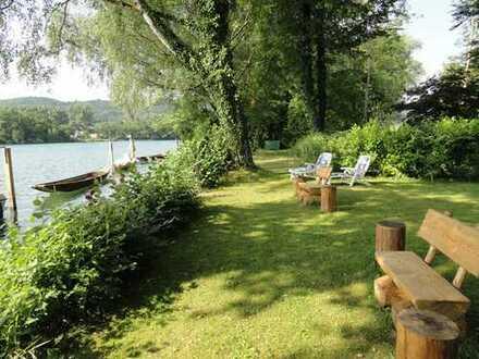 Leben und arbeiten im kleinen Paradies mit Rheinufergrundstück in Büsingen.