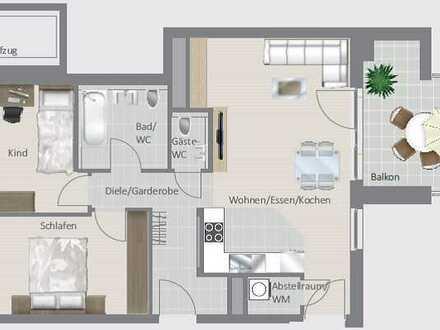 Schicke 3,5-Zimmer-Wohnung - Erstbezug!