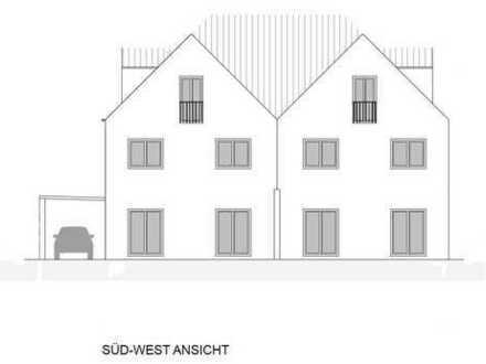 Doppelhaushälfte mit Garten und Carport mit Geräteschuppen ***NEUBAU KfW-55***
