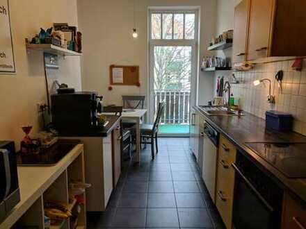 26 qm - Zimmer im renovierten Altbau mit eigenem Balkon (Südvorstadt)