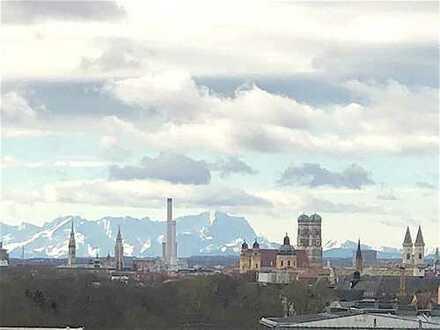 Ihnen liegt die Stadt zu Füssen! Einmalige Wohnung mit Alpenpanorama am Englischen Garten