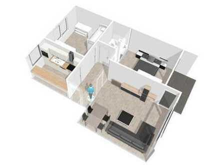 Erstbezug nach Renovierung mit EBK und SüdWest-Balkon: freundliche 3-Zimmer-Wohnung in Barmbek