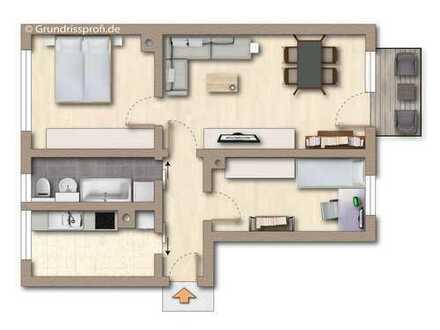 Wir modernisieren für Sie diese 3-Raum-Wohnung, nutzen Sie unseren Farbbonus