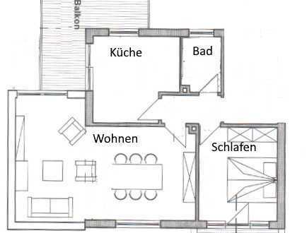 Sehr schöne, helle 2-Zimmer-Wohnung in Kriftel