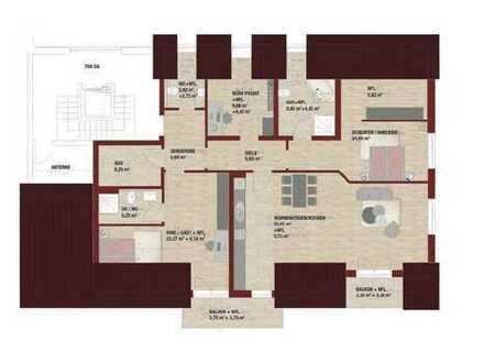 4-Zi.-Penthousewohnung in der Stadtmitte