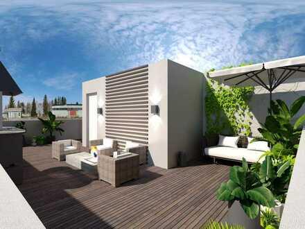 Helle 2 Zimmer-Wohnung. Das Highlight: Die Dachterrasse!