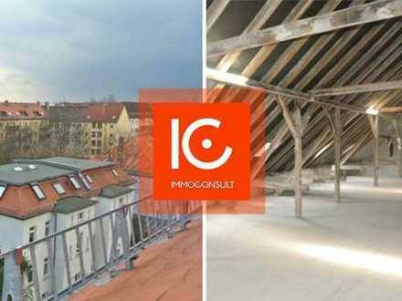 Komplettes Dachgeschoss zum Eigenausbau, Medien liegen an, Maisonette denkbar