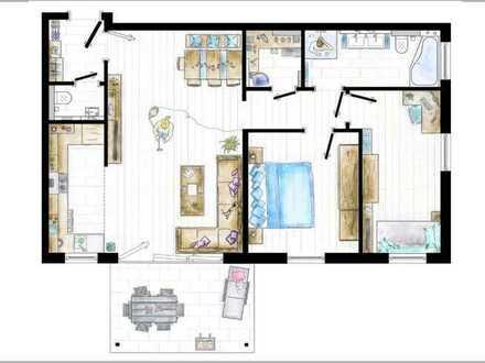 Neuwertige Wohnung im Limespark | 3 Zi. inkl. EBK, Aufzug, Balkon, Doppel-TG-Stellpl. u. v. m.