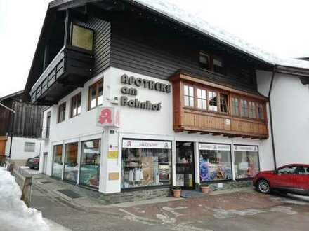 Ladenlokal zu vermieten in Oberstdorf am Bahnhof