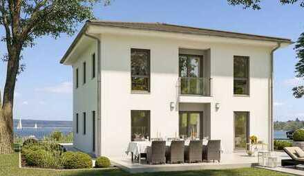 Bauen statt Miete zahlen! Mediterrane Stadtvilla 145-18-0 (freistehend) ohne Makler