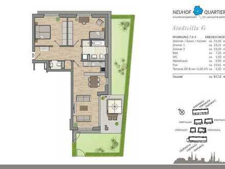 Helle 3-Zimmer-Erdgeschosswohnung mit Terrasse und Garten - zum selber einziehen oder vermieten