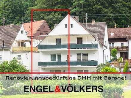Renovierungsbedürftige DHH mit Garage und Garten