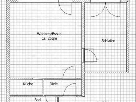 Helle, freundliche 2-Zimmer-Wohnung mit Terrasse in Ettlingen