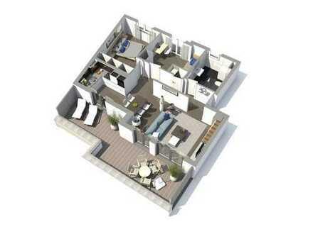 Traumhafte Penthouse-Wohnung mit Dachterrasse, 3 Zimmer, KfW-55