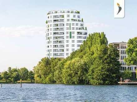 Top-Neubau-Erstbezug direkt am Wasser mit Blick auf die Havel, Balkon, Parkett, Einbauküche, Aufzüge