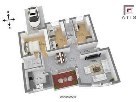 """toll geschnittene 4-Zimmer Erdgeschosswohnung mit 2 Bädern, PKW-Stellplatz""""In der Nähe des Maindamm"""""""