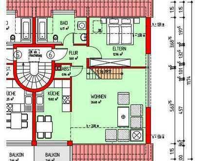 Schöne und gepflegte 2-Zimmer-DG-Wohnung mit Galerie, Balkon und EBK in Hallbergmoos