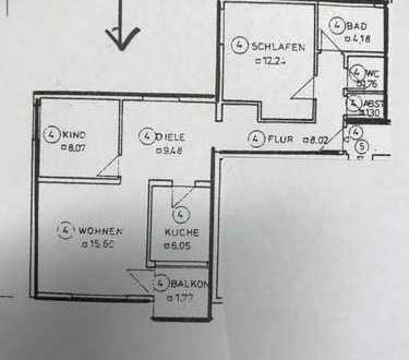 Erstbezug nach Sanierung mit Balkon: exklusive 3-Zimmer-Wohnung in Puchheim