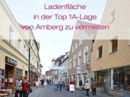 Ladenfläche in der Top 1A-Lage von Amberg zu vermieten