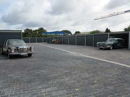 Hochwertige Garagenstellplätze für Oldtimer in gesicherter überwachten Anlage