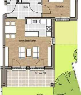 Neubau-Erstbezug mit EBK, Terrasse und eigenem Garten: exklusive 2-Zimmer-EG-Wohnung in Hanau