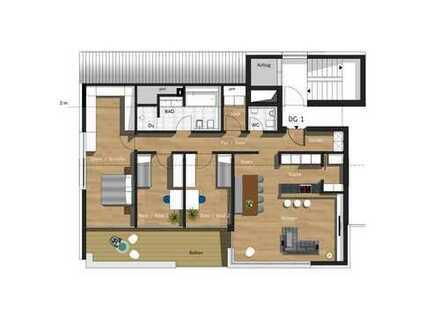 4,5-Zimmer-Penthouse mit TG & Außenstellplatz