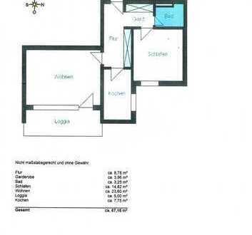 Renovierte 2-Zimmer-Wohnung mit Balkon und Einbauküche in Augsburg-Pfersee