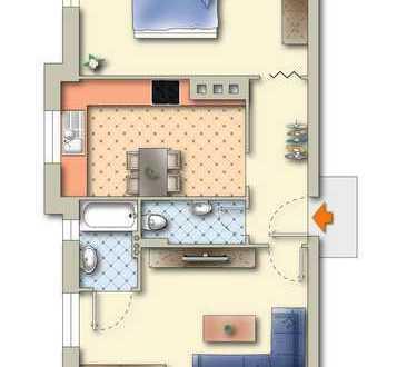 Zwei-Zimmer-Wohnung in Schwabing - im Altbau