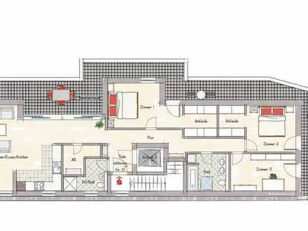 Penthouse ca. 134,47 m², 3.OG Neubauprojekt mitten in der Nibelungenstadt