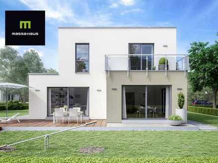 Villa mit Flachdach mit gehobener Ausstattung in exklusiver Lage !