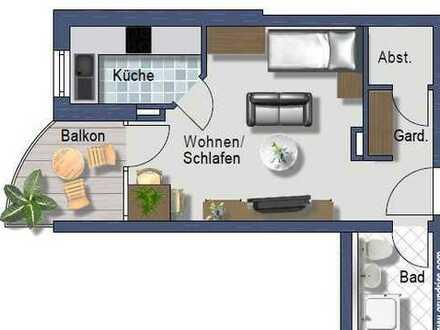 Helle 1 Zimmerwohnung -sep. Küche mit Fenster - Stellplatz - sonniger Balkon - Fahrstuhl