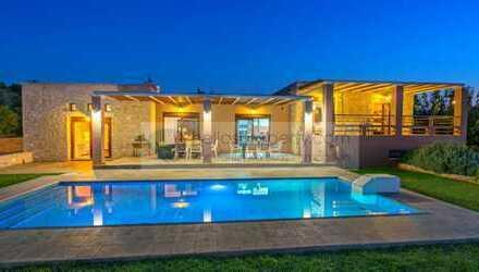 Fantastische Einfamilienhaus-Villa mit Garten Pool und Meeresblick nahe Rethymno