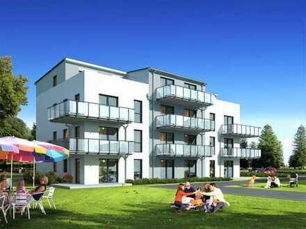 Neubau-Erdgeschosswohnung mit Terrasse + PKW Stellplatz