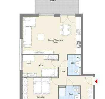 Neubau Göppingen - 3-Zimmer-Wohnung mit Balkon