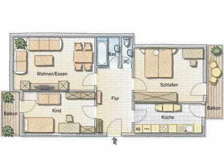 leerstehende 3-Zimmer Wohnung am Marienplatz
