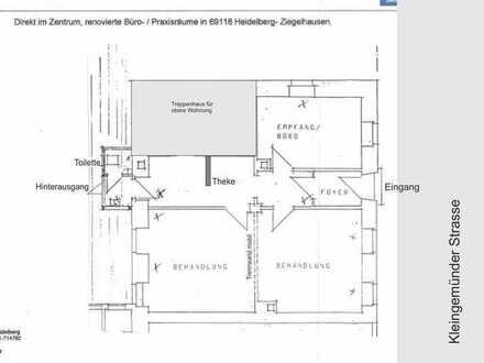 Büro-/Praxisfläche im Herzen von Heidelberg-Ziegelhausen, ideal für Seminare!