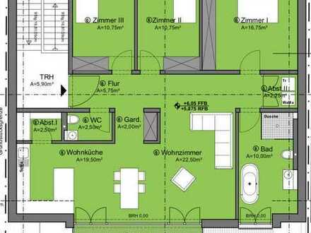 ++ NEUBAU! Großzügige 4 ZKBBalkon Wohnung im DG eines 3-Parteienhauses in ruhiger Wohnlage! ++