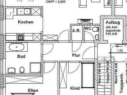 schöne Neubauwohnung 3 Zimmer 1. OG mit Balkon