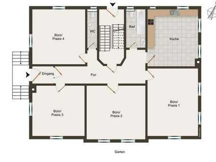 Praxis- oder Büroräume mit hohen Decken in Abtsgmünd - zentrale Lage (provisionsfrei)