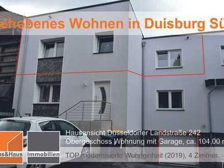 Gehobenes Wohnen in Duisburg Süd. 4 Zimmerwohnung mit Balkon und Garage