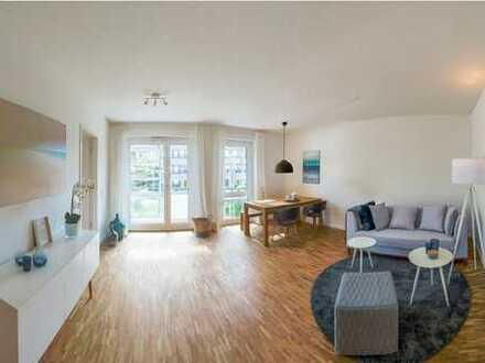 Moderne Neubauwohnung mit Fußbodenheizung, geräumigem Balkon und Einbauküche