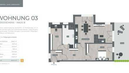 ZENTRAL. GRÜN. LEBENSWERT LANDSHUT 034 Haus B Nr.03 - Erdgeschoss 3-Zimmer