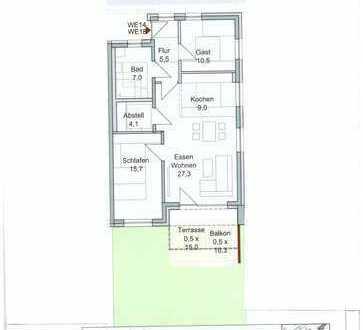 Erstbezug: attraktive 3-Zimmer-Wohnung in Werneck (Nähe Schweinfurt)