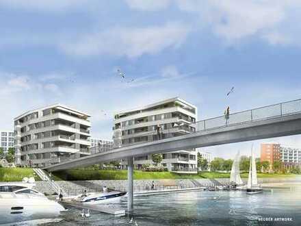 Wohnen am Wasser - Helle, moderne 3-Zi-Wohnungen auf der Hafeninsel