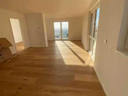NEUBAU: Offene 3-Zimmer-Wohnung mit großem Balkon und Fernblick