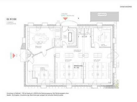 hochwertige Büroeinheit mit ca. 170m² zzgl. Keller; 11 - 22 Arbeitsplätze